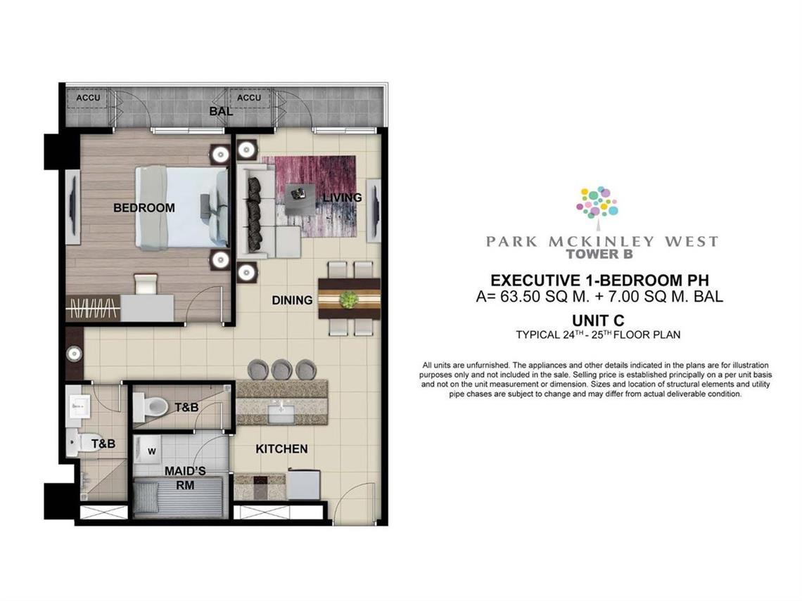 Park Mckinley West, Tower B, Unit Layout