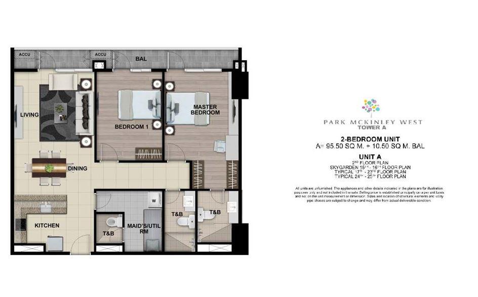 Park Mckinley West, Tower A, Floor Plan