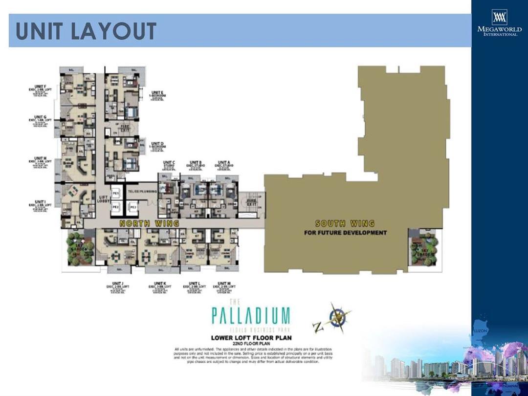 The Palladium, Unit Layout