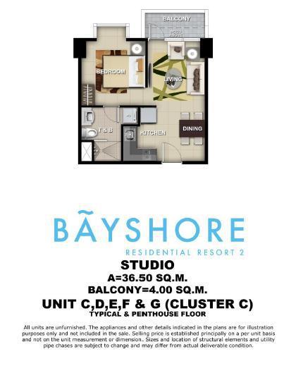 Bayshore Residential, Unit Layout