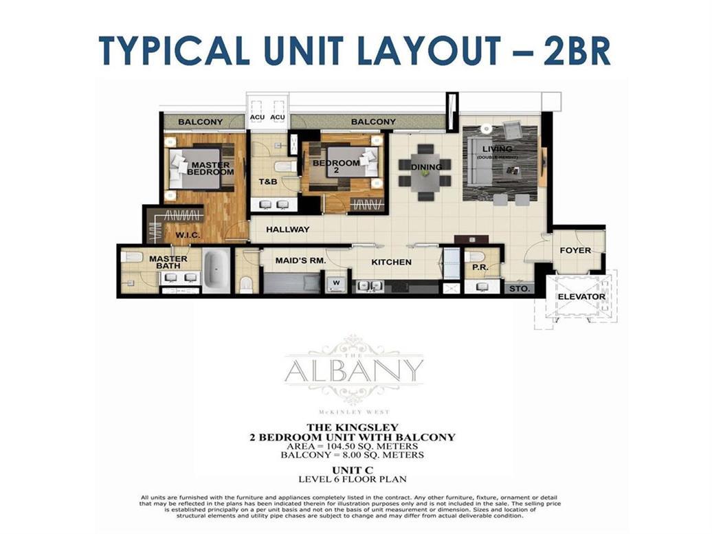 The Albany, Unit Layouts