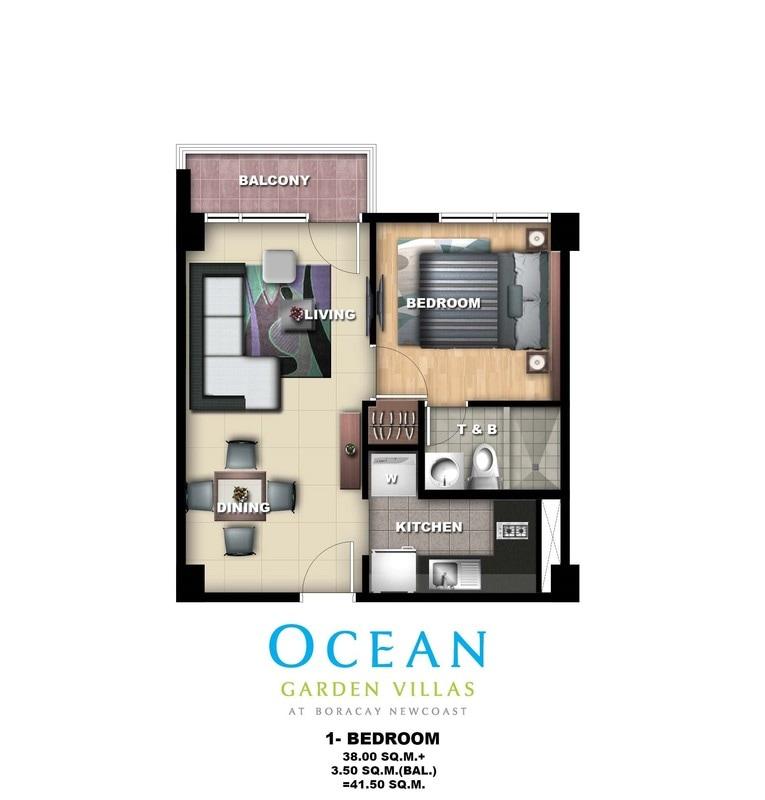 Ocean Garden Villas, Unit Layout