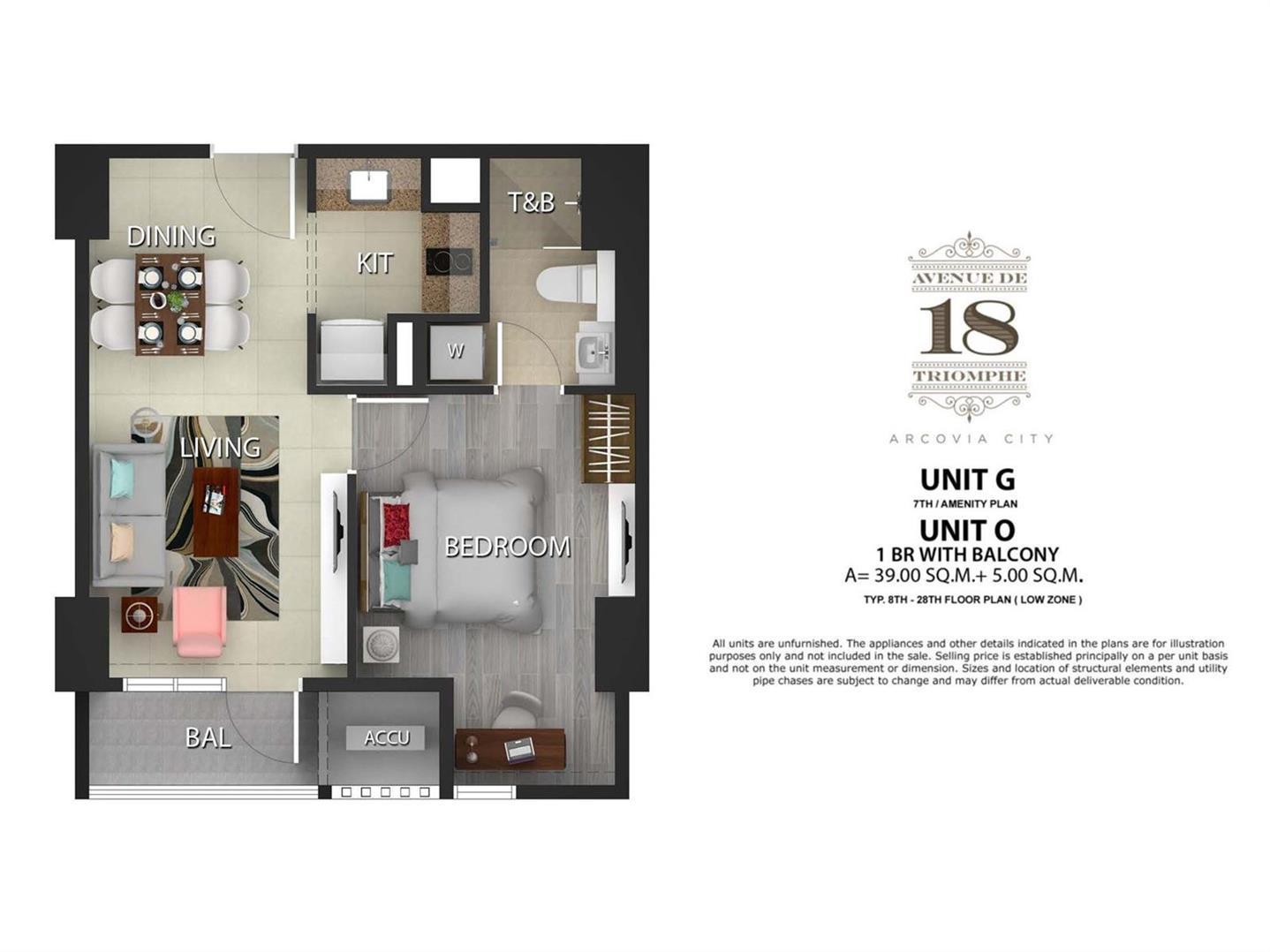 18 Avenue de Triomphe, Unit Layouts